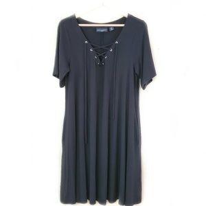 Cynthia Rowley / Black Strappy A-Line Tee Dress